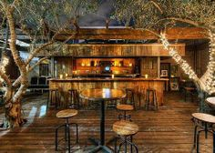 The Aventine Trattoria And Bar In Hollywood California Has A Lovely Decor To It