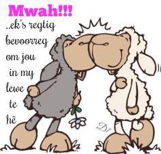 Ek's regtig bevoorreg om jou in my lewe te hê Shaun The Sheep, Sheep And Lamb, Nici Teddy, Funny Sheep, Love My Husband, Cute Teddy Bears, Animal Cards, Watercolor Cards, Whimsical Art