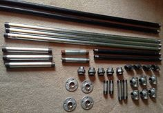 Here is all the metal piping that was needed to build this DIY Metal Bed Frame