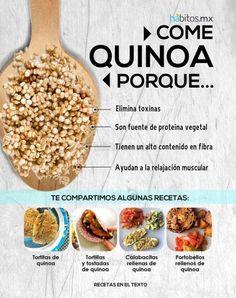 Superfood an-tairbheach is ea Quinoa . ach an bhfuil a fhios againn cén fáth? Healthy Tips, Healthy Habits, Healthy Snacks, Healthy Eating, Healthy Recipes, Real Food Recipes, Vegetarian Recipes, Cooking Recipes, Yummy Food
