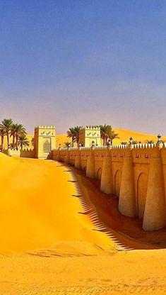 Arabian Walk... Liwa Oasis in Rub' al Khali desert, United Arab Emirates