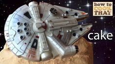 STAR WARS CAKE MILLENNIUM FALCON with Carrot Cake