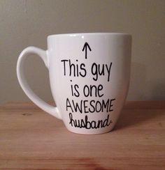 This guy is one awesome husband mug mug for by simplymadegreetings, $15.00