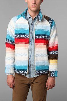 Urban Renewal Blanket Station Jacket  #UrbanOutfitters