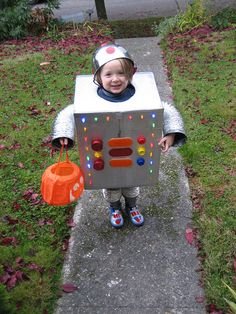 Halloween fun. Homemade Halloween robot costume. My favorite so far.