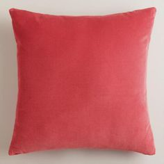 Our Coral Velvet Throw Pillows are classic accents, designed to update any room with a plush feel in a striking hue. Made of luxuriously soft 100% cotton velvet, they're an affordable way to add a splash of color to your space.