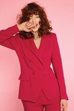 #furelle #furellefashion #furellestyle #style #fashion #designer #fashiondesigner #takaja #beyourself #woman #womanfashion #fashionity #womanity #womanhood #takaja #fuschia #suit #summer Elle Fashion, Womens Fashion, Colours, Blazer, Suits, Woman, Summer, Jackets, Fashion Design