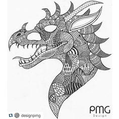 zentangle dragon - Google Search