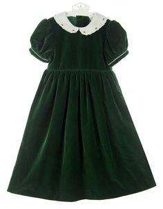 NEW Lavender Blue Green Velvet Dress with White Embroidered Scalloped Collar $85.00