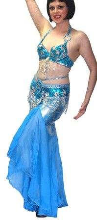 Egyptian Style Belly Dance Costume - AQUA