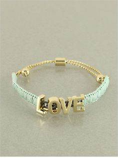 Mint Love Bracelet from P.S. I Love You More Boutique