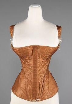 c0395b25892 Corset -- 1830-35 -- American -- Cotton