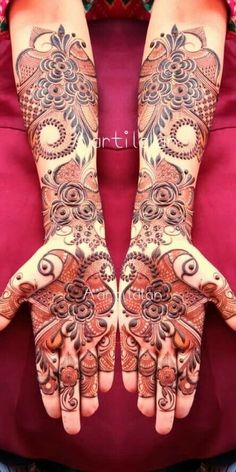 Arabic Bridal Mehndi Designs, Khafif Mehndi Design, Indian Henna Designs, Floral Henna Designs, Modern Mehndi Designs, Mehndi Designs For Girls, Mehndi Design Photos, Beautiful Mehndi Design, Mehandi Designs Images