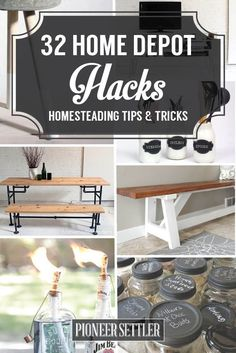 Best Home Depot Hacks and Homesteading Tips & Tricks at pioneersettler.co...