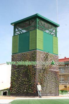 Fachada vegetal en paterna realizada con el sistema - Paisajismo urbano ...