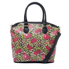 Amazon.co.jp: 【ベッツィジョンソン】 Betsey Johnson 大胆不敵なスタイルでアームキャンディなハンドバッグ Cheeta Blossom Tuxedo Tote 【並行輸入品】: シューズ&バッグ
