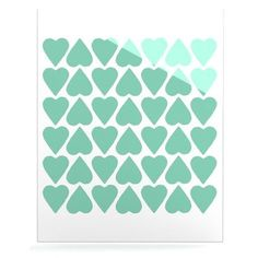 #mint #hearts #heart #love #projectm #kess #kessinhouse #artforthehome