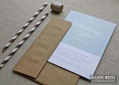 Believe Notes: Custom Recap: Summer Butterfly Engagement Invitations