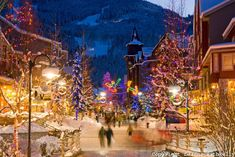 Christmas in Whistler Village favorit place, christmas time, winter, canada, whistler villag, christmas villages, places, backyards, british columbia