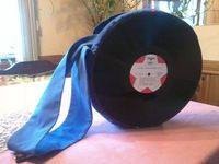 Vinyl Record Bag Free Sewing Tutorial - Awesome upcycle idea!