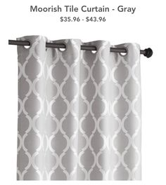 fancy plush design moorish tile curtain. Moorish Tile Grommet Top Curtain  Gray pier one Lending artistry to your home decor our exclusive curtains