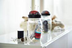 Mason Jar Sewing Kit with Pincushion