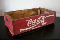 SOLD!!! Coca Cola Coke Farm Fresh Vintage Red Wood Crate Soda Pop Case Box SOLD!!!