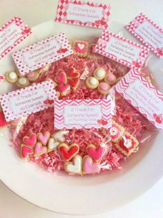Valentine Treat Bag Toppers Personalized Treat Bag Toppers
