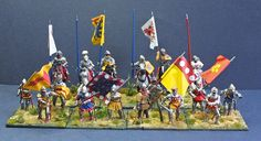 Participants at the battle of Agincourt 1415 These are a recent commission for a gentleman in Qatar.