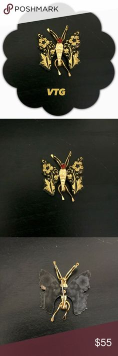 VTG DAMASCENE BUTTERFLY BROOCH Dry old! Very VTG! A gift to me in the 60's. Pictures don't do it justice! Stunning damascene with high quality gold plated etching. Any questions please ask! Remember to bundle for additional savings! Vintage Jewelry Brooches
