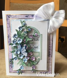 Tattered Lace Cards, Floral Garland, Die Cut Cards, Hobbies And Crafts, Envelopes, 3 D, Decoupage, Birthday Cards, Decorative Boxes