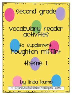 Vocabulary reader activities to supplement Houghton Mifflin Reading Gr. 2 Theme 1      Around the Kampfire