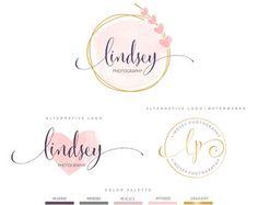 Premade Branding Kit fotografía Logo Set por BVLogoDesign en Etsy