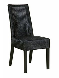 Lloyd Loom Dining Chair in Black - - Hicks and Hicks Living Room Chairs, Dining Chairs, Wingback Armchair, Occasional Chairs, Club Chairs, Vintage Leather, Loom, Accent Chairs, Interior