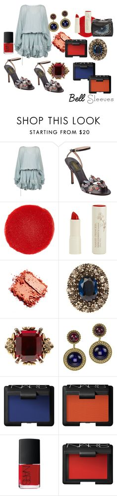 """""""Beautiful Belle sleeve butterfly"""" by alisafranklin on Polyvore featuring Chloé, Valentino, Christian Louboutin, Naked Princess, Alexander McQueen, Chanel and NARS Cosmetics"""