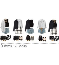 """""""5 items - 5 looks"""" by frutini on Polyvore"""