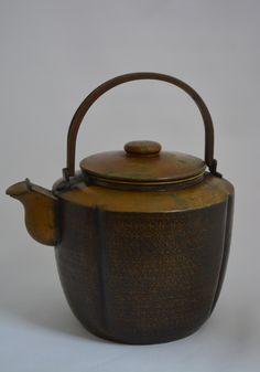 Mizutsugi tea kettle, antique Japanese, Taisho era, stamped by StyledinJapan on Etsy