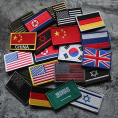Home & Garden Apparel Sewing & Fabric Search For Flights Embroidered Country Flag Army Badge 3d Tactical Military Badges Fabric Cloth Combat Armband World Flag Badges
