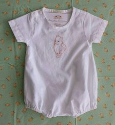 Heirloom inspired Classic Winnie the Pooh Bubble Romper