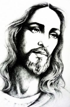"jesus-christ/jesus-christ-by-mariebouldingue.jpg ""Jesus Christ"" by Marie Bouldingue Jesus Tattoo, Christus Tattoo, Jesus Drawings, Jesus Christ Drawing, Pencil Drawings, Pictures Of Jesus Christ, Jesus Christus, Jesus Face, Jesus Is Lord"