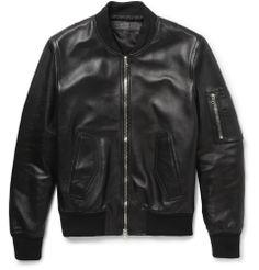 Neil Barrett - Leather Bomber Jacket - €2,118.20
