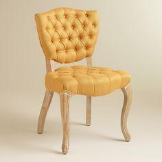 Honey Gold Emma Tufted Chairs, Set of 2 | World Market