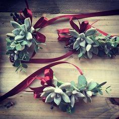 Succulent Corsages by The Floral Loft San Francisco Wedding Flowers
