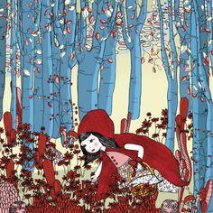 Pinzellades al món: La Caputxeta sola al bosc / Caperucita sola en el bosque / Riding Hood alone in the forest (33)