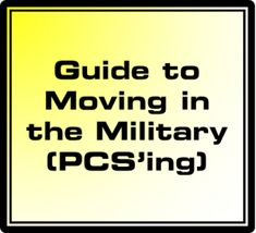 Moving / PCS'ing in the Marine Corps