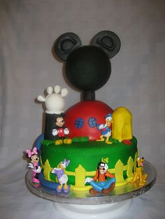 first year birthday cake ideas with mickey mouse and friends | Mickey Mouse Clubhouse