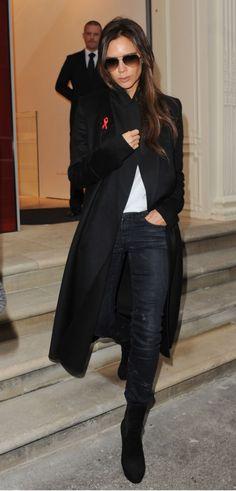 Victoria Beckham in R13 Skinny in Black Marble