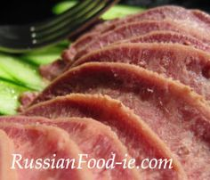 Beef tongue (cow tongue) recipe. Beef tongue for cold cuts hors d'oeuvre / appetizer,starter or asandwich meat