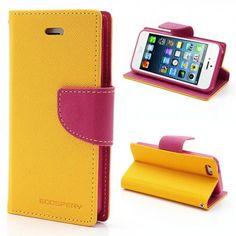 Apple iPhone 5 / 5S Keltainen Fancy Lompakkokotelo  http://puhelimenkuoret.fi/tuote/apple-iphone-5-5s-keltainen-fancy-lompakkokotelo/