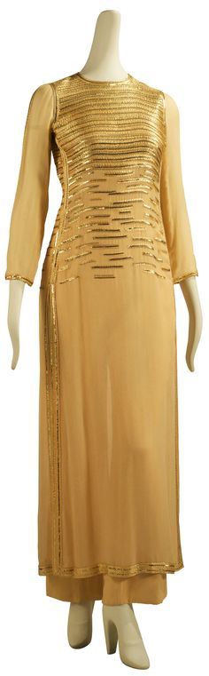 Chanel, Sequined Ochre Tunic and Culottes, 1970.